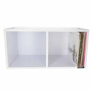 ENOVA VINYLE BOX 240WH – Meuble blanc pour 240 vinyles