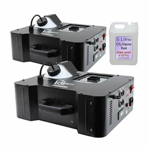Equinox Verti Lot de 2 machines à fumée verticale Effet CO2 DMX 1500 W