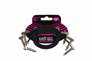 """Ernie Ball 12"""" Flat Ribbon Patch Cable 3-Pack"""