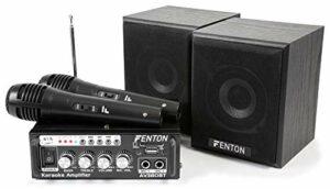 Fenton AV380BT Kit Karaoké avec Amplificateur USB/SD/BT Enceintes et Microphones