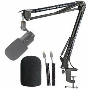Fifine K670 Support Microphone Professionnel Réglable avec Bonnette Micro et Tube de Fixation Compatible avec Microphone Podcast USB Fifine K670 670B par YOUSHARES