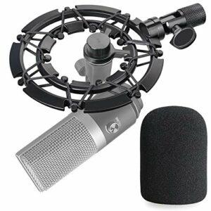 Fifine K670 Suspension Antichoc en Alliage avec Bonnette anti-bruit Mousse en Noir Réduisant la Vibration pour Microphone Fifine K670 par YOUSHARES