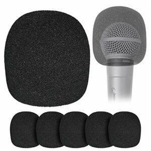 Filtre anti-pop en Mousse pour Microphone à Boule – Lot de 6 Couvercles en Mousse pour Pare-brise pour Micros Portables pour Réduire les Bruits de Vent Plosifs par YOUSHARES