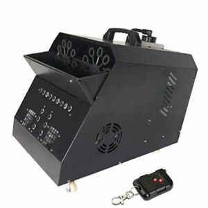 Fluide Machine de Bulle Automatique Machine Professionnelle avec Les Lumières de LED Télécommande sans Fil avec La Lampe D'effet D'étape pour Parties Mariages Disco Liquide (Color : 2)