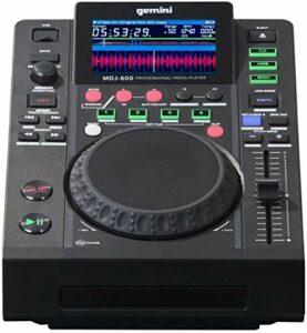 Gemini MDJ-600 Professional CD and USB MIDI Media Player Black