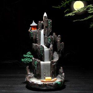 GJG Cascade Refoulements Brûleur d'encens, Fait à la Main Reflux brûleur d'encens, pour la décoration de la Maison, pour la décoration de Bureau à Domicile,11