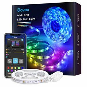 Govee Bande LED Smart WiFi Ruban LED 5m RGB Multicolore App Contrôle, Bande Lumineuse Compatible avec Alexa et Google Home, Décor pour Maison Cuisine