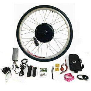 Kit de conversion pour vélo électrique – 28 pouces – Kit de conversion pour vélo électrique – 36 V 250 W – Moteur avant – Kit de conversion avec écran LCD