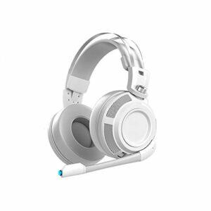 KJCHEN Headphones Heasheam Eye Jeu Special 7.1 Sons Decôme d'écoute Tête câblée Cahier de Table mystérieuse avec Microphone de Microphone Confortable (Color : White)