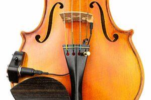 KNA Pickups KNA VV-3V Portable Pickup pour violon et violet avec contrôle du volume