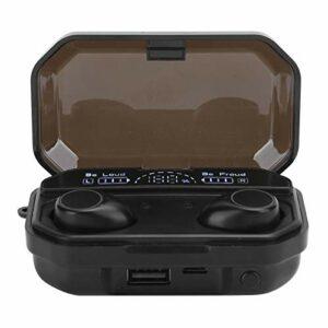 Lantro JS Casque magnétique, Bluetooth 5.1 3D Touch LED avec Affichage numérique de la Puissance écouteur Bluetooth, couplage Automatique de démarrage pour la Maison(A16)
