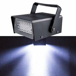 Led Stroboscopique, Stroboscopique Super Lumineux Clignotant Lumière 32 Pcs Blanc Led Lampe pour Disco Salle De Bal KTV Dj Bar Club Musique Fête De Mariage (1 pièces)