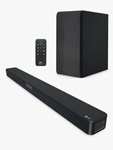 LG SN4 (DGBRLLK) Barre de son RMS 300 W, 2,1 canaux avec DTS Virtual:X™ et AI Sound Pro avec caisson de basses sans fil