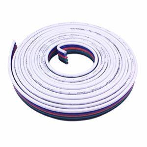 LitaElek 20m Câble d'extension de bande RGBW LED Connecteur de ruban LED Cordon de rallonge à lampe LED Fil de connexion à 5 broches pour bande LED SMD 5050 RGBW de 10 mm et 12 mm de large LED Strip