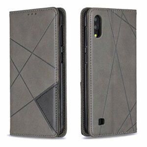 LODROC Coque Galaxy A70E Coque,Housse en Cuir Premium Flip Case Portefeuille Etui avec Stand Support et Carte Slot pour Samsung Galaxy A70E – LOBF0100195 Gris