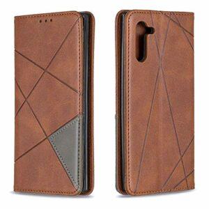 LODROC Coque Galaxy A71 Coque,Housse en Cuir Premium Flip Case Portefeuille Etui avec Stand Support et Carte Slot pour Samsung Galaxy A71 – LOBF0100200 Marron