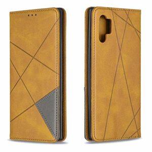 LODROC Coque Galaxy J4+ (J4Plus) Coque,Housse en Cuir Premium Flip Case Portefeuille Etui avec Stand Support et Carte Slot pour Samsung Galaxy J4 Plus/J415FN – LOBF0100210 Jaune