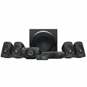 Logitech Z906 Système de Haut-Parleurs avec Son Surround 5.1, Certifié THX, Dolby & DTS, 1000 Watts en Puissance, Multi-Dispositifs, Entrées Multiples, Télécommande, Prise UK, PC/PS4/Xbox/TV