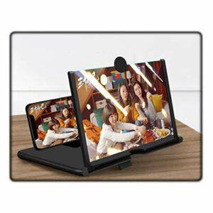 Loupe D'écran Téléphone Portable Portable, Grand écran HD Anti-lumière Bleue Rétractable Support Support D'écran Projecteur Anti-rayonnement Movie Video Expander(Color:Noir,Size:10 inch)