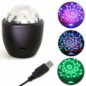 Lumières disco 3 W pour fête – Éclairage DJ – Mini lampes stroboscopiques – Pour la voiture, la salle de bain, les fêtes d'anniversaire, DJ, bar, club, pub, Halloween, Noël