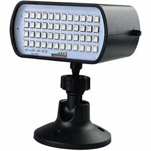 Lumineux Strobe DiscoLumières,Lampe de Scène Jeu de Lumiere Lumière Fête LED à Commande Sonore Mini Projecteur Boule Eclairage pour Cadeau Scène Fête Soirée DJ Bars Magnifique