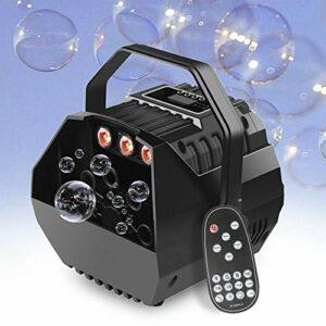 Machine à bulles 15 W RGB LED Lampe de scène pour enfant DJ Party 240 V avec télécommande
