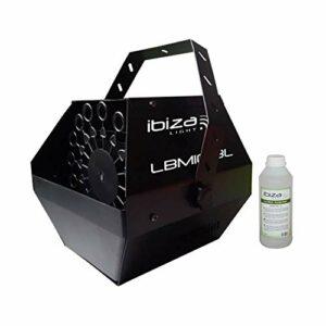Machine à bulles portable noire 25W LBM10-BL + étrier de fixation + 1L