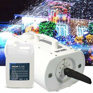 Machine à neige artificielle à LED pour Evenements, Décoration Noël – Capacité 550ml – 5L de liquide INCLUS – FXLAB G002GSS