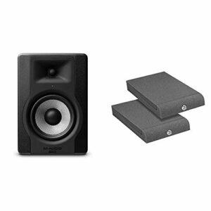 M-Audio – Bx5 D3 – Moniteur de Studio Professionnel 100 W Active avec 2 Voies, Woofer 5 Pouces – Noir & Adam Hall SPADECO1 Plaque absorbante pour Moniteur de Studio 170 x 300 mm