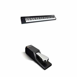 M-Audio Keystation 88 MK3 et SP-2 – Clavier maitre USB MIDI 88 touches semi-lestées, DAWs et Pédale de Sustain Universelle de Type Piano