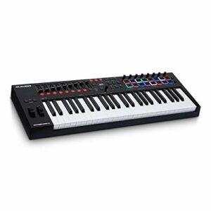 M-Audio Oxygen Pro 49 – Clavier maître USB-MIDI 49 touches avec pads, potentiomètres, boutons et faders assignables MIDI et pack de logiciels inclus