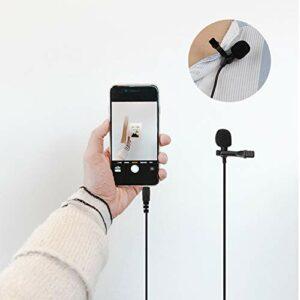 Microphone à condensateur à pince Lavalier filaire haute sensibilité en cuivre noir, pour appareil photo numérique