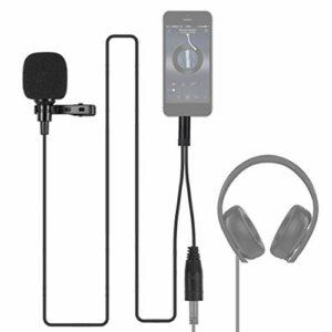 Microphone ultra léger à pince Lavalier APS 1.5m 3.5mm, pour téléphone avec noyau de microphone importé
