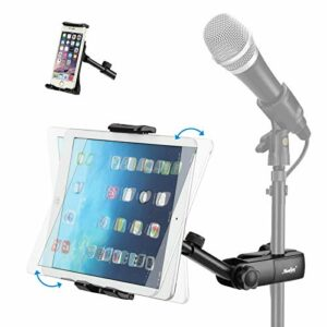 Moukey Support pour Smartphone Tablette iPad Rotatif pour Pied de Micro