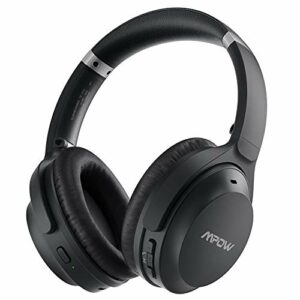Mpow H12 IPO Casque Bluetooth avec Suppression Active du Bruit avec Micro Type C, CVC 8.0, 40 Heures, Basses Profondes HiFi, Casque Filaire et sans Fil pour Enfants, Adultes, Classes en Ligne, Bureau