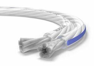 Oehlbach Silverline SP-25 – Câble de Haut-Parleur stéréo Hi-FI – câble de Haut-Parleur avec SPOFC (cuivre argenté) 2×2,5mm² – câble de Haut-Parleur à Mini-Bobine – 10m