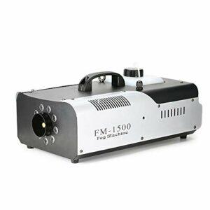 OUKANING Machine à Brouillard 1500W 3In1 DMX LED Machine à Brouillard RVB avec télécommande Fogger