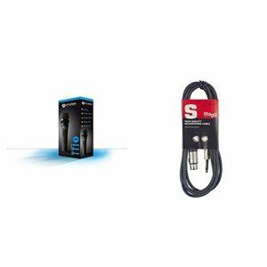 Prodipe TT1 Lanen Microphone Chant Dynamique Noir & Stagg 6 m Câble Microphone XLR – Phono de Haute Qualité – Noir