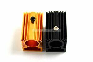 Q-BAIHE 2 Radiateur en Aluminium dissipateur thermique 20 x 27 x 32 mm pour module laser 12 mm or/noir