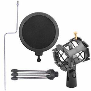 Redxiao Stockage Facile trépied Pliable réglable à 360 degrés Bonne flexibilité Filet de Couverture de Microphone, Support de Microphone, Instruments de Musique pour la Maison