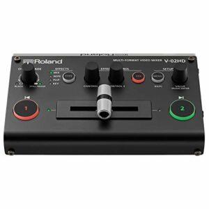 Roland V-02HD Multi-Format Video Switcher, Mélangeur, scaler, expander, avec traitement audio et effets vidéo