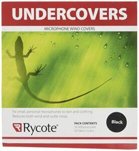 Rycote 065101 Undercovers Fixations Micro pastilles Autocollantes et en tissu noir (pack de 30+30) Noir