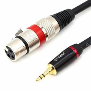 SiYear Câble de microphone mini jack stéréo 3,5 mm vers XLR femelle 3 broches asymétrique 3,5 mm vers XLR 3 broches – (1,5 m)