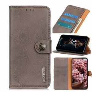 Snow Color Coque Galaxy A51 5G Portefeuille, en Cuir Flip Case pour Bumper Protecteur Magnétique Fente Carte Housse Cover Coque pour Samsung Galaxy A51 5G – COKZN010053 Kaki