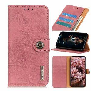 Snow Color Coque Galaxy A51 Portefeuille, en Cuir Flip Case pour Bumper Protecteur Magnétique Fente Carte Housse Cover Coque pour Samsung Galaxy A51 – COKZN010047 Rose