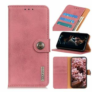 Snow Color Coque Galaxy A70E Portefeuille, en Cuir Flip Case pour Bumper Protecteur Magnétique Fente Carte Housse Cover Coque pour Samsung Galaxy A70E – COKZN010057 Rose