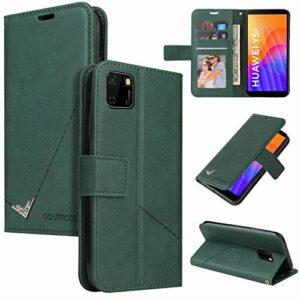 Snow Color Coque Huawei Y5p / Honor 8S Portefeuille, en Cuir Flip Case pour Bumper Protecteur Magnétique Fente Carte Housse Cover Coque pour Huawei Y5p – COYKB060425 Vert