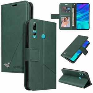 Snow Color Coque Huawei Y6p Portefeuille, en Cuir Flip Case pour Bumper Protecteur Magnétique Fente Carte Housse Cover Coque pour Huawei Y6p – COYKB060439 Vert