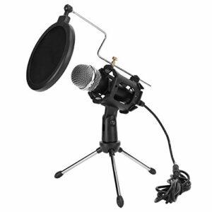 Socobeta Mini kit de Microphone Professionnel Facile à Utiliser pour la Radio, Les interviews, Les vidéoconférences, Le Chant en Ligne, Les Chats en Ligne