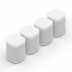 Sonos One Kit de Haut-Parleur Intelligent Wi-FI Multiroom avec Alexa, Airplay, Streaming 4-Raum Set Blanc.